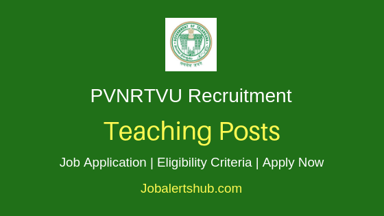 PVNRTVU Teaching Job Notification