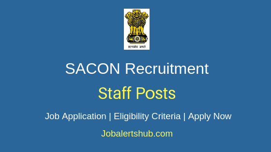SACON Staff Job Notification