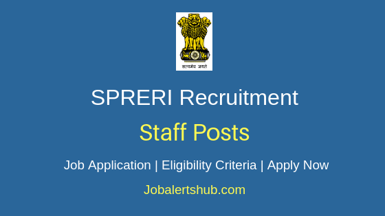 SPRERI Staff Job Notification