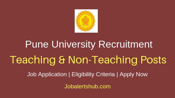 Pune University Teaching & Non-Teaching Job Notification