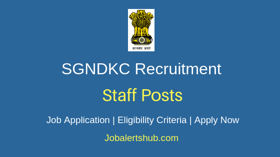 SGNDKC Staff Job Notification