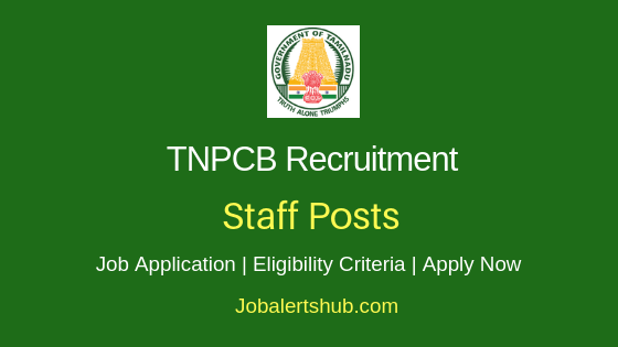TNPCB Staff Job Notification