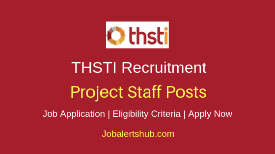 THSTI  Project Staff Job Notification