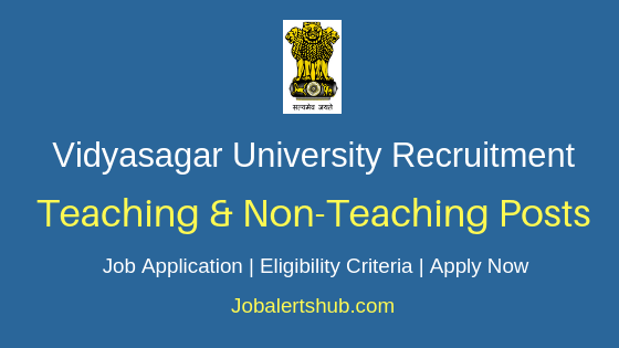 Vidyasagar University Teaching & Non-Teaching Job Notification