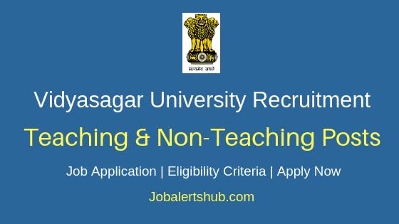 Vidyasagar University Teaching & Non-Teaching Job Notification