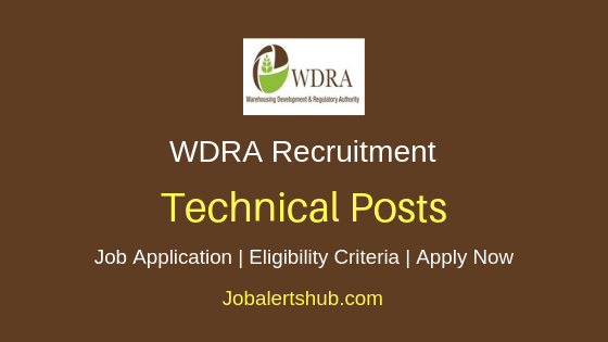 WDRA  Technical Job Notification
