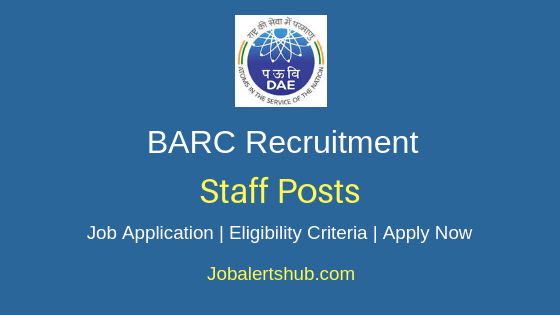 BARC Staff Job Notification