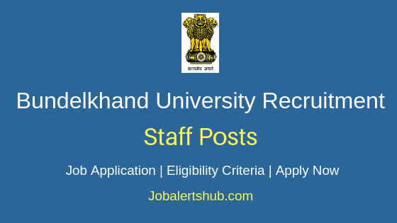 Bundelkhand University Staff Job Notification