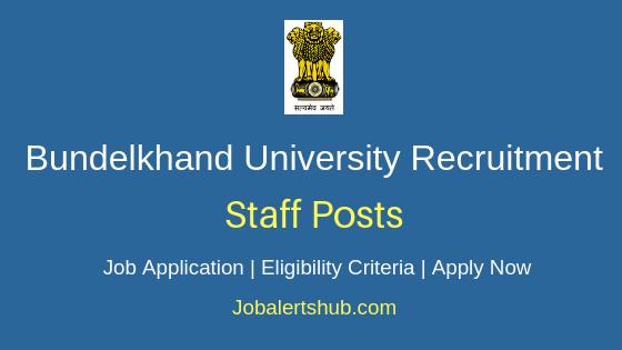 Bundelkhand University Staff Job Notification