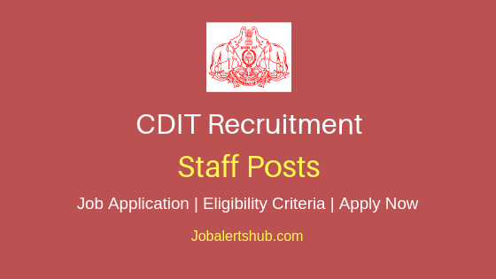 CDIT Staff Job Notification