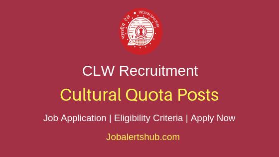 CLW Cultural Quota Job Notification