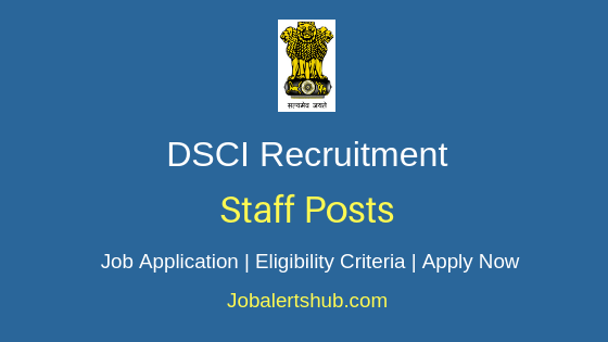 DSCI Staff Job Notification