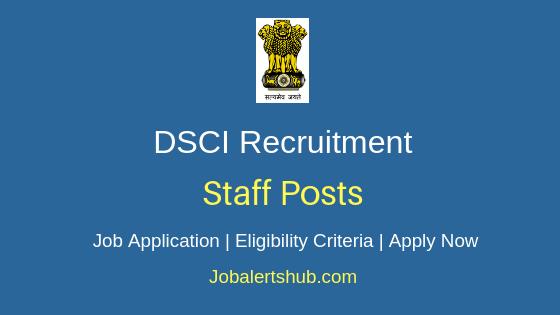 DSCI Staff Job Notification