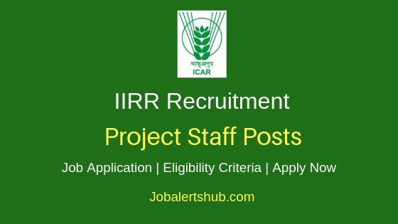 IIRR Project Staff Job Notification