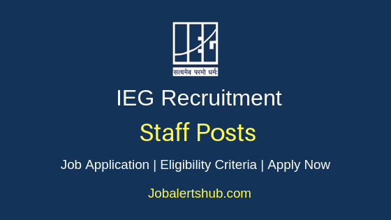 IEG Staff Job Notification