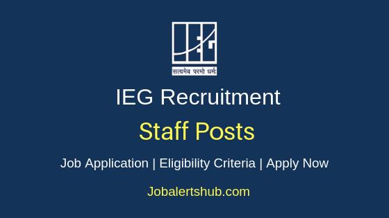 IEG Staff Job Notification