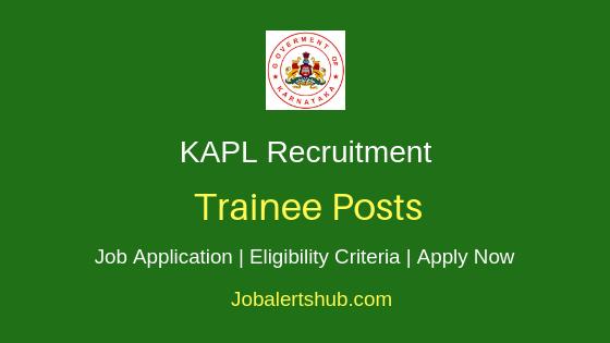KAPL Trainee Job Notification