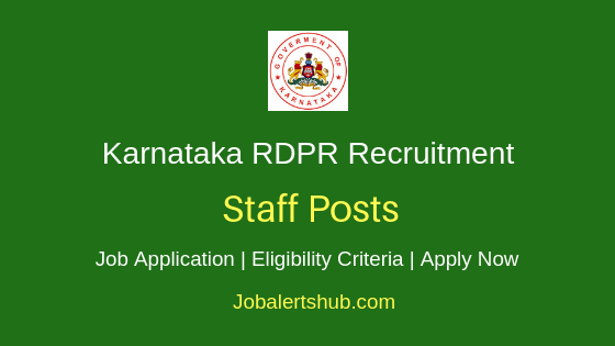 Karnataka RDPR Staff Job Notification
