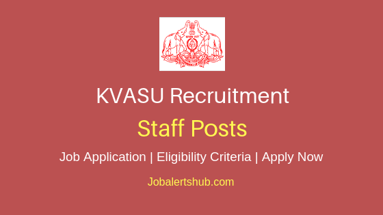 KVASU Staff Job Notification
