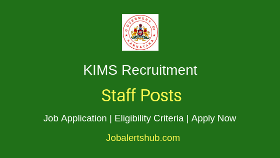 KIMS Staff Job Notification