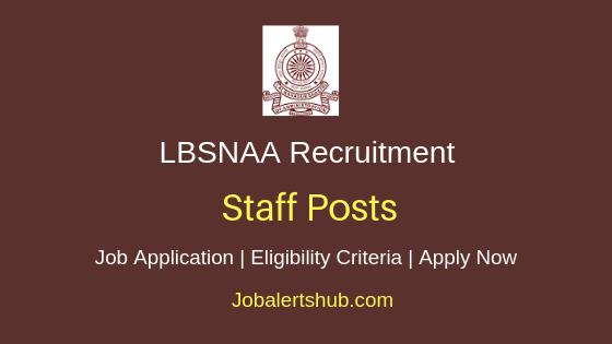 LBSNAA Staff Job Notification