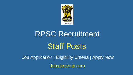 RPSC Staff Job Notification
