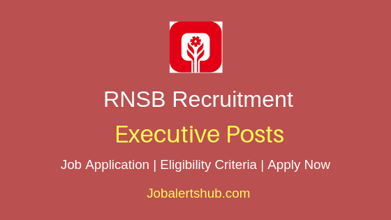 RNSB Executive Job Notification