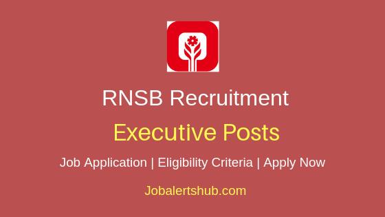 RNSB Executive Job Notification