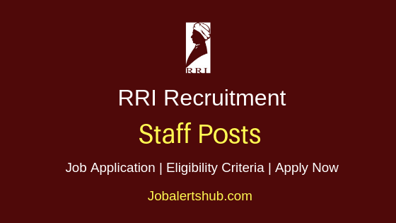 RRI Staff Job Notification