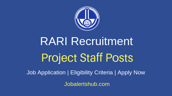 RARI Project Staff Job Notification