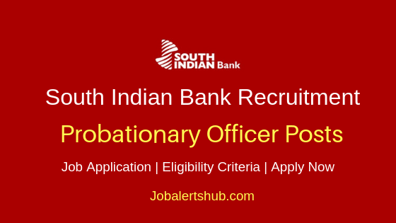SIB Probationary Officer Job Notification