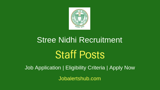 Stree Nidhi Staff Job Notification