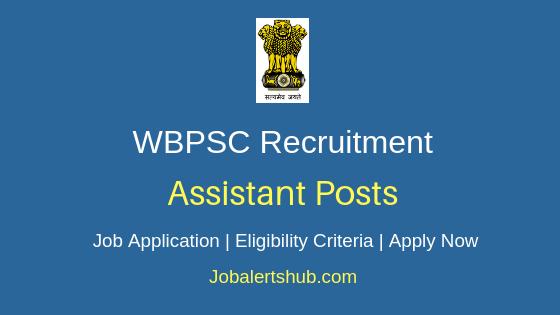 WBPSC Assistant Job Notification