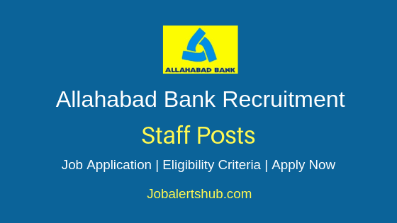 Allahabad Bank Staff Job Notification