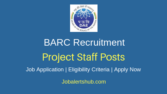 BARC Project Staff Job Notification