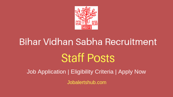Bihar Vidhan Sabha Staff Job Notification