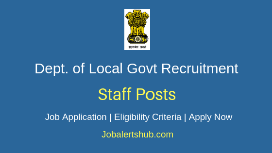 DLG Punjab Staff Job Notification