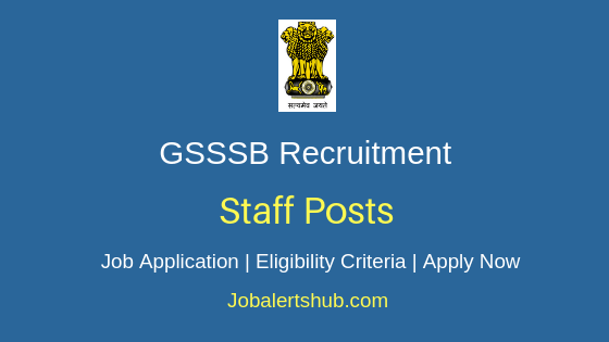 GSSSB Staff Job Notification