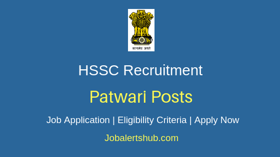 HSSC Patwari Job Notification