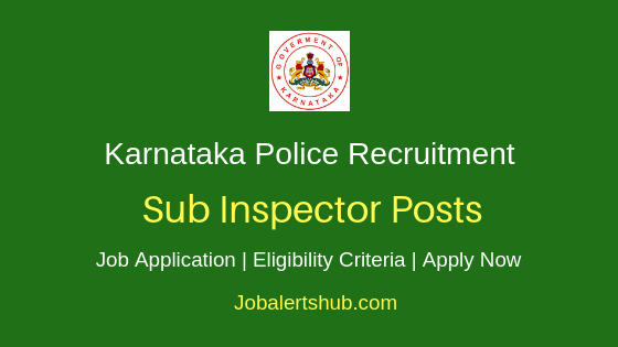 KSP SI Job Notification