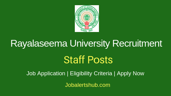 Rayalaseema University Staff Job Notification
