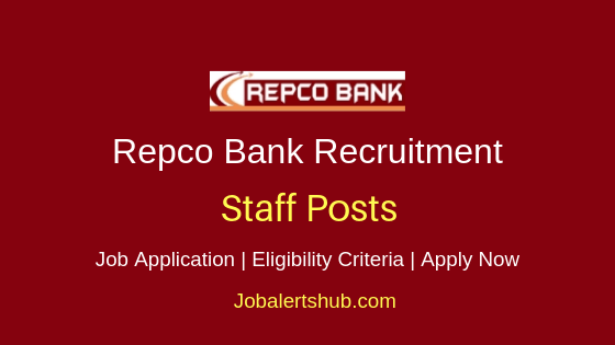 Repco Bank Staff Job Notification