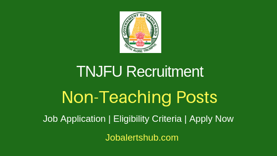 TNJFU Non-Teaching Job Notification