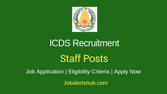 Tamilnadu ICDS Staff Job Notification