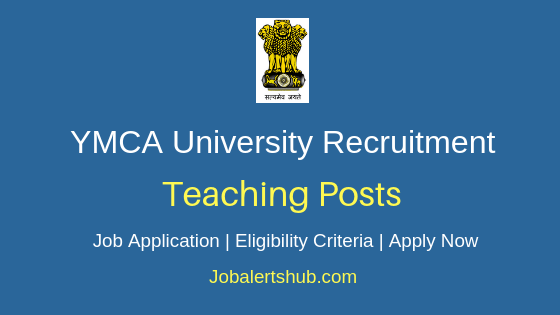 YMCA University Teaching Job Notification
