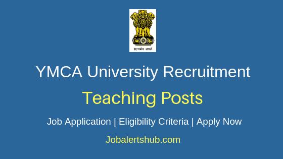 YMCA University Teaching Job Notification