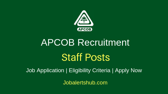 APCOB Staff Job Notification