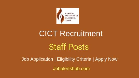 CICT Staff Job notification