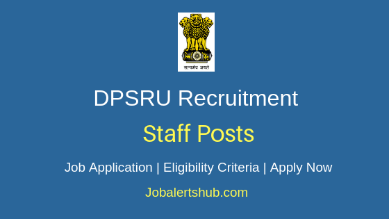 DPSRU Staff Job Notification