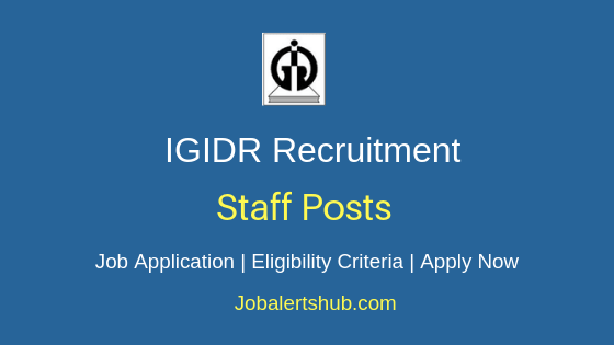 IGIDR Staff Job Notification